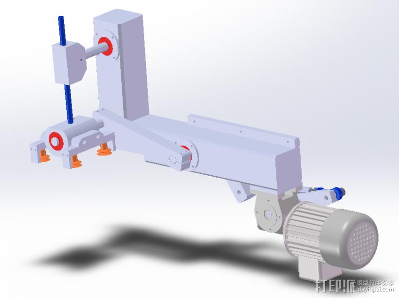 90°取放机构 3D打印模型渲染图