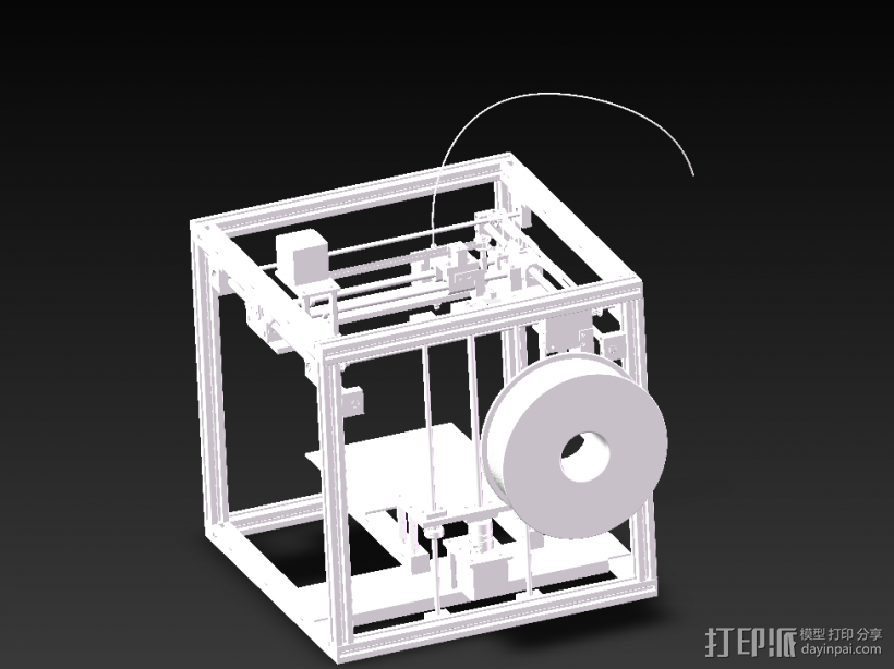 3D打印机 3D打印模型渲染图