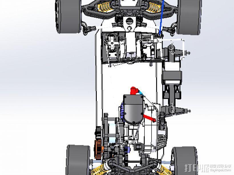 遥控玩具赛车 3D打印模型渲染图