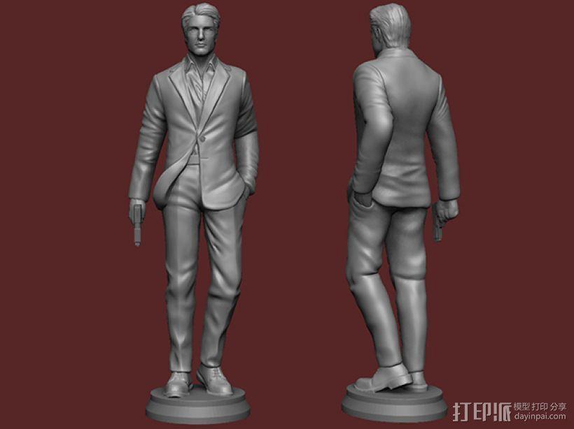 《碟中谍5:神秘国度》之伊桑·亨特(汤姆克鲁斯) 3D打印模型渲染图