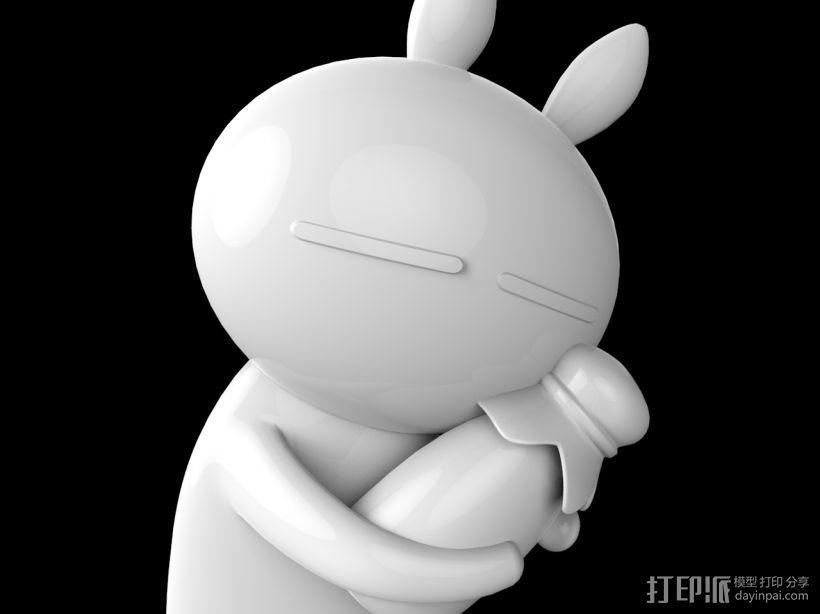 兔斯基玩偶 3D打印模型渲染图