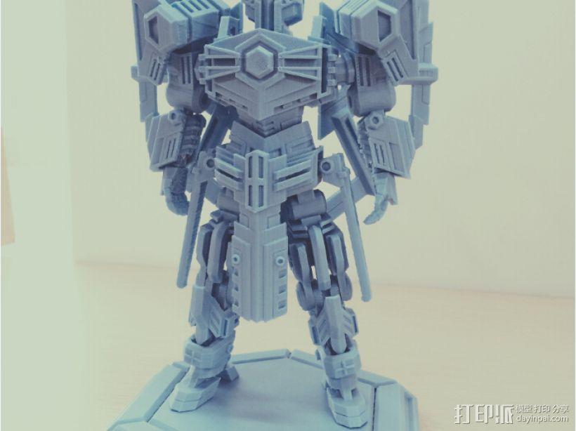 机甲原创设计-圣裁骑士-3D打印原创模型 3D打印模型渲染图