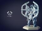 机甲原创设计-圣裁骑士-3D打印原创模型