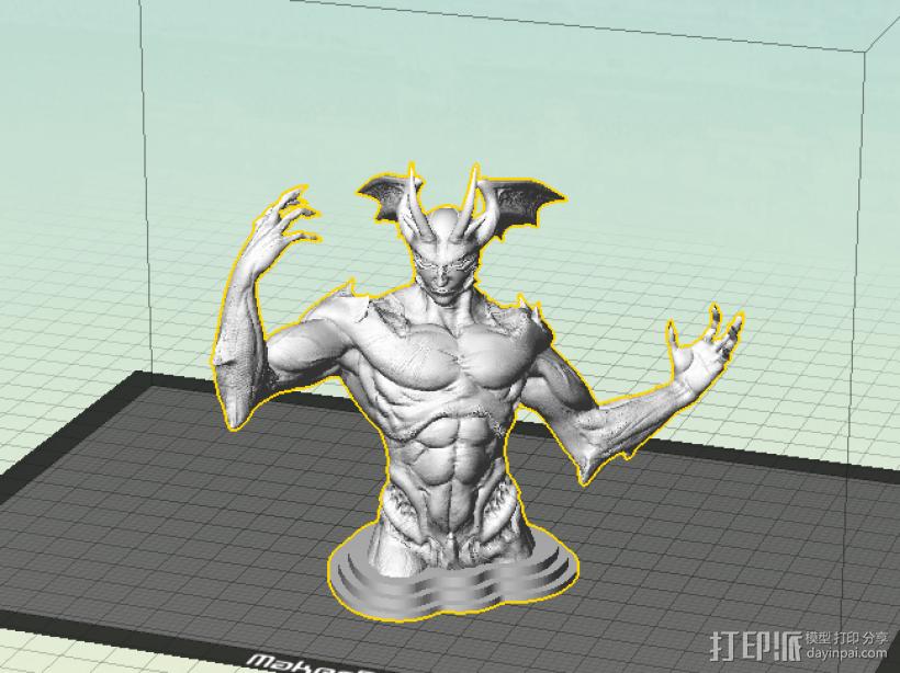 魔鬼 3D打印模型渲染图