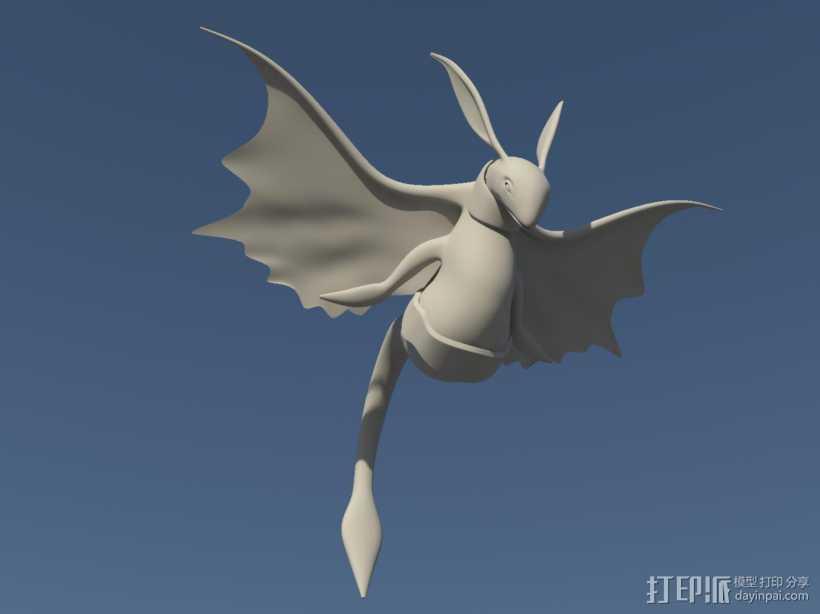 飞鸟 3D打印模型渲染图