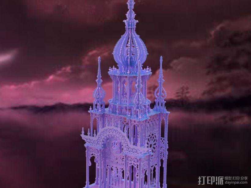 大钟楼 3D打印模型渲染图