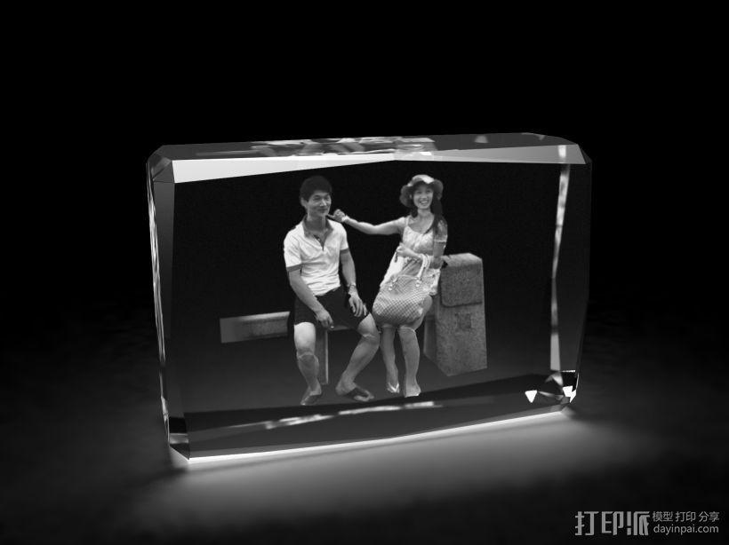 3d水晶内雕 3D打印模型渲染图