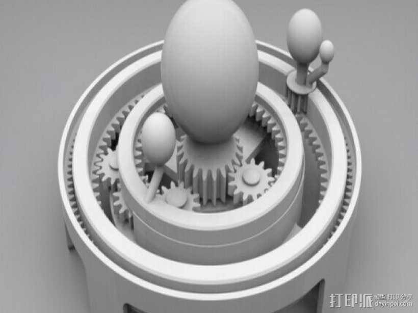 太阳系模拟 3D打印模型渲染图