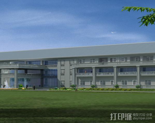 行政楼3D 模型 1:1 3D打印模型渲染图