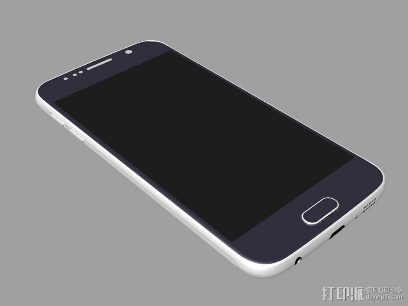三星GALAXY S6 手机模型 抄数 3D打印模型渲染图