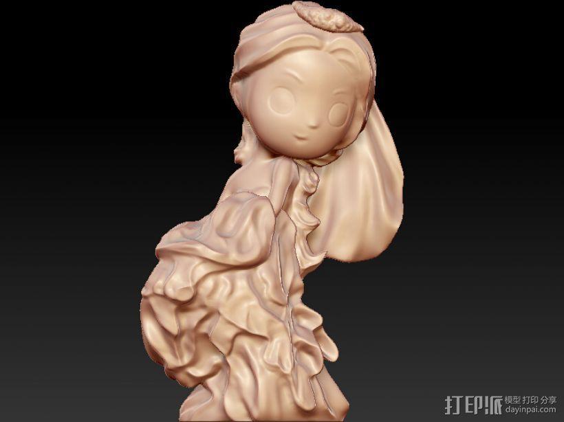 美丽新娘 3D打印模型渲染图