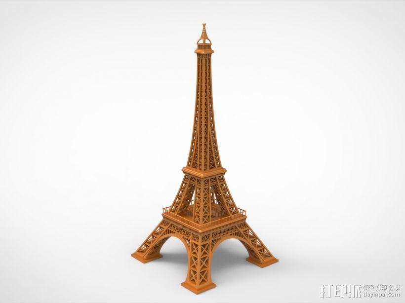 埃菲尔铁塔模型 3D打印模型渲染图