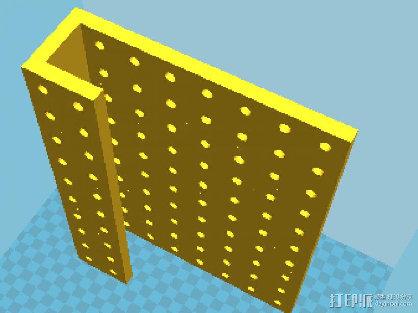 工具挂板pegboard 3D打印模型渲染图