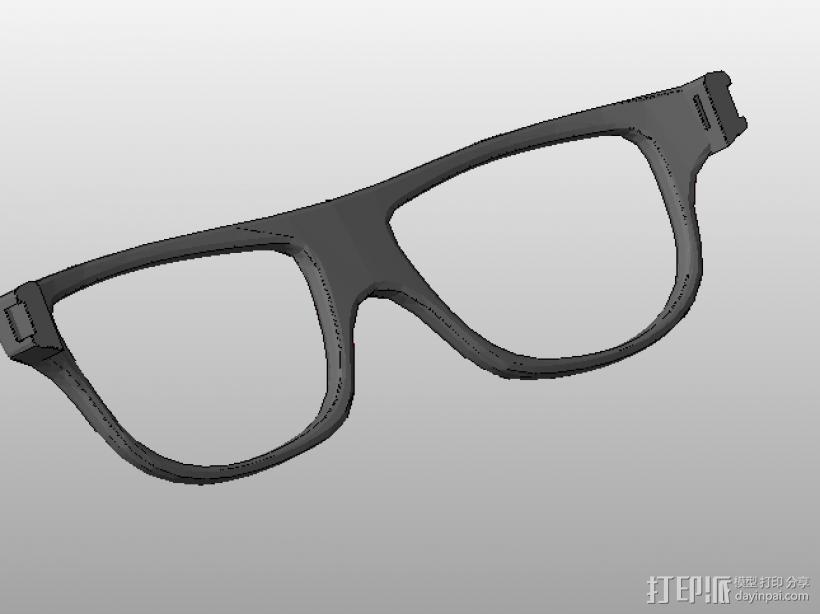 装饰镜框 眼镜框 组合眼镜框 三合一 3D打印模型渲染图