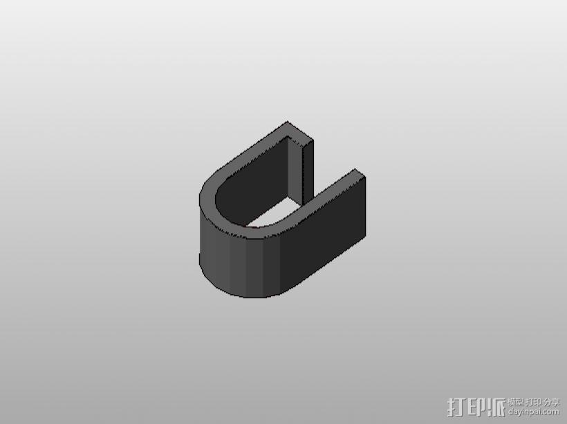 装饰镜框 链接支架 组合眼镜 三合一 3D打印模型渲染图
