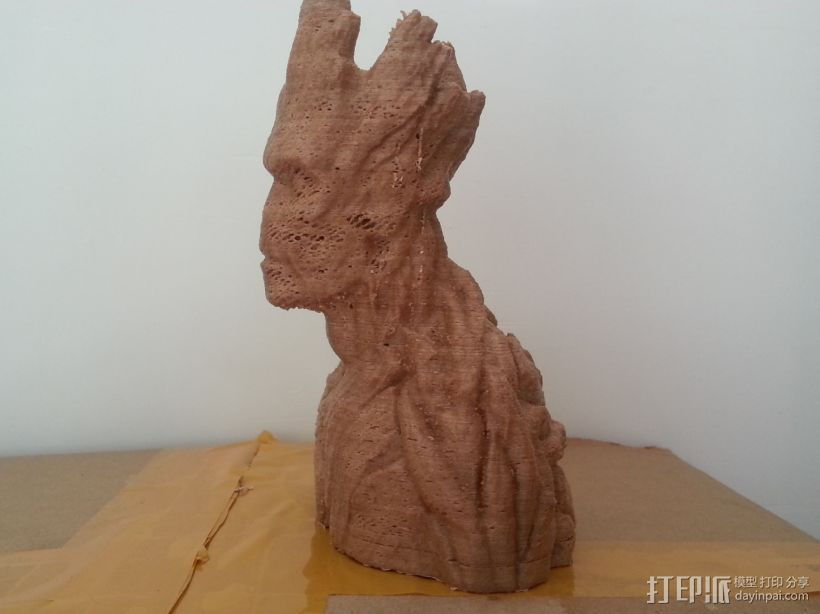 银河护卫队 I am Groot 3D打印模型渲染图