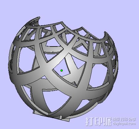 赤平投影 3D打印模型渲染图