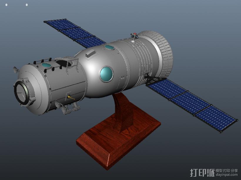 神舟飞船  卫星 摆件 3D打印模型渲染图