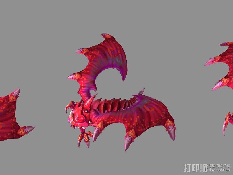 (混血灵魔)(血婴)(蓝魅猛犸) 3D打印模型渲染图