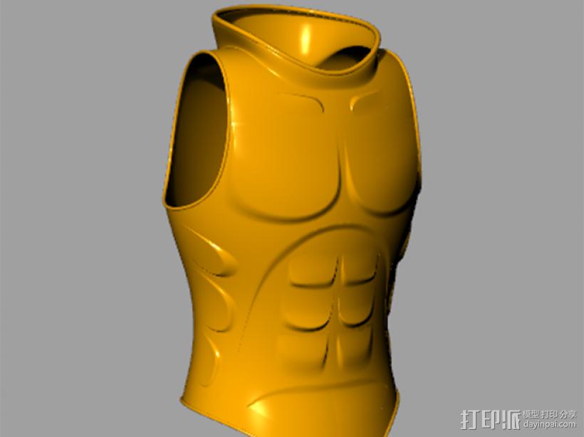 肌肉铠甲 3D打印模型渲染图