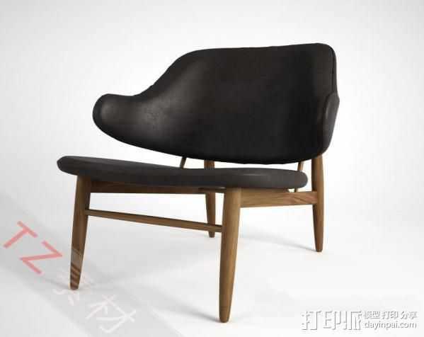 休闲椅 3D打印模型渲染图