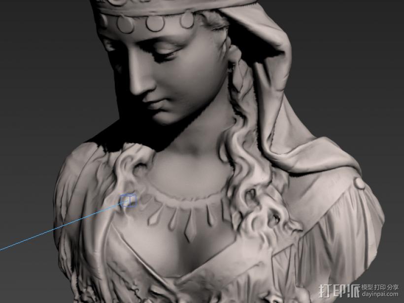 塑像 3D打印模型渲染图