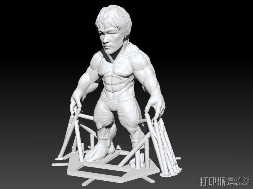李小龙 3D打印模型渲染图