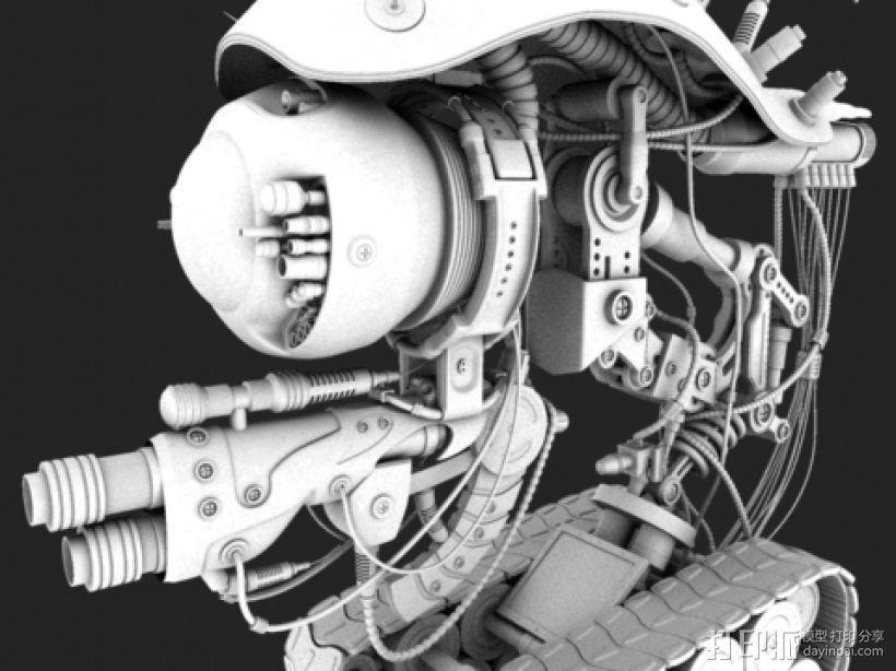 机械的一个坦克 3D打印模型渲染图