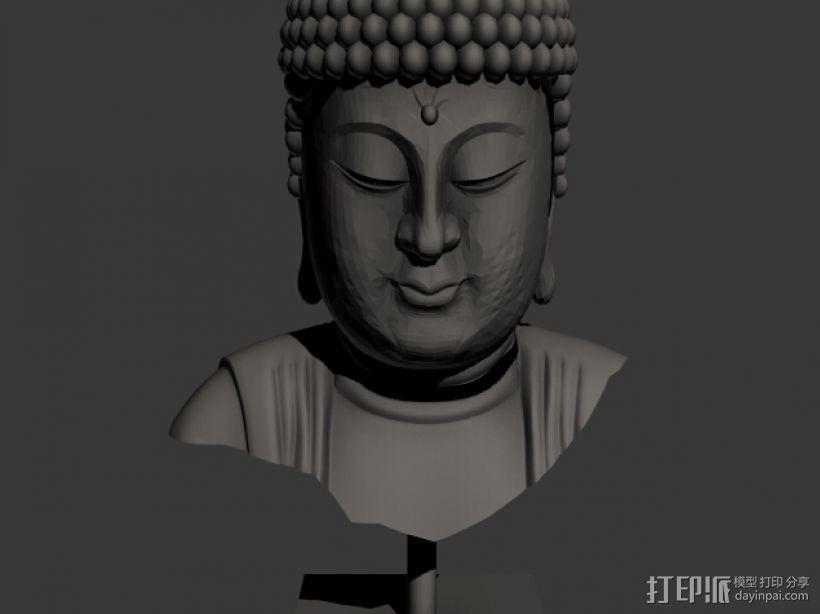 佛头   佛像头像 3D打印模型渲染图