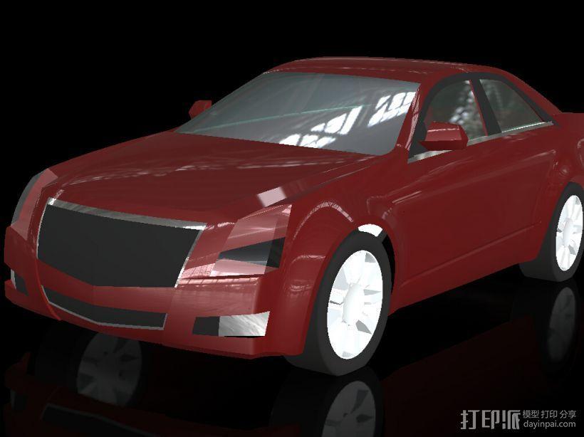 凯迪拉克 3D打印模型渲染图