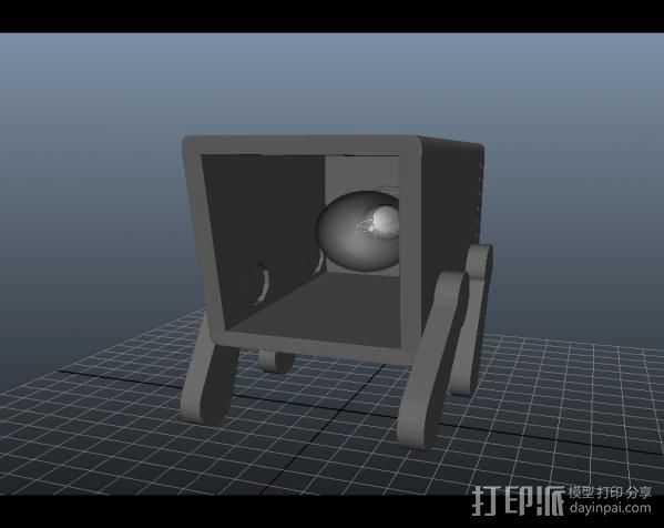 木盒灯 3D打印模型渲染图