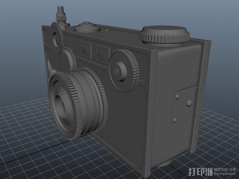 老式的一个相机 3D打印模型渲染图