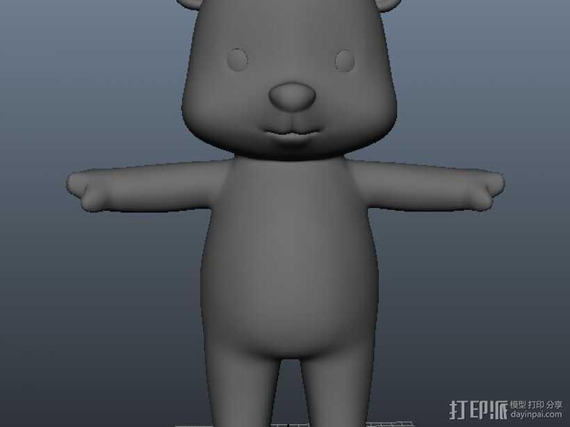 小熊 3D打印模型渲染图