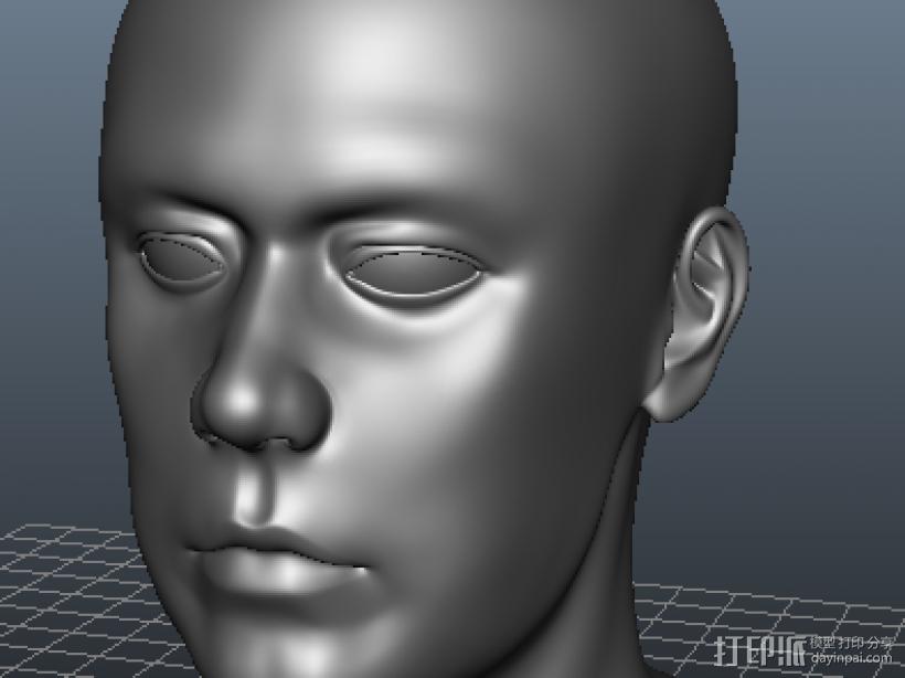 外国人的头像 3D打印模型渲染图
