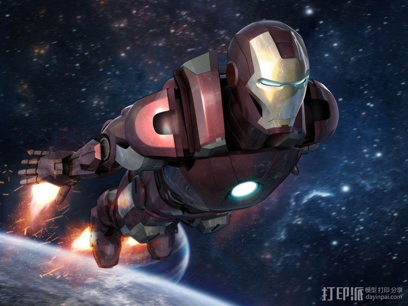 复仇这联盟3钢铁侠Iron Man 3D打印模型渲染图