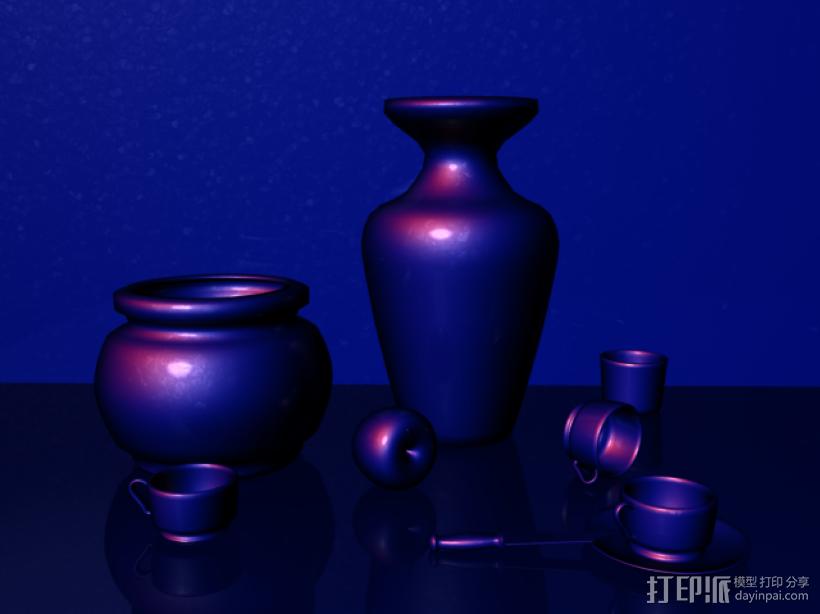 瓶瓶罐罐 3D打印模型渲染图