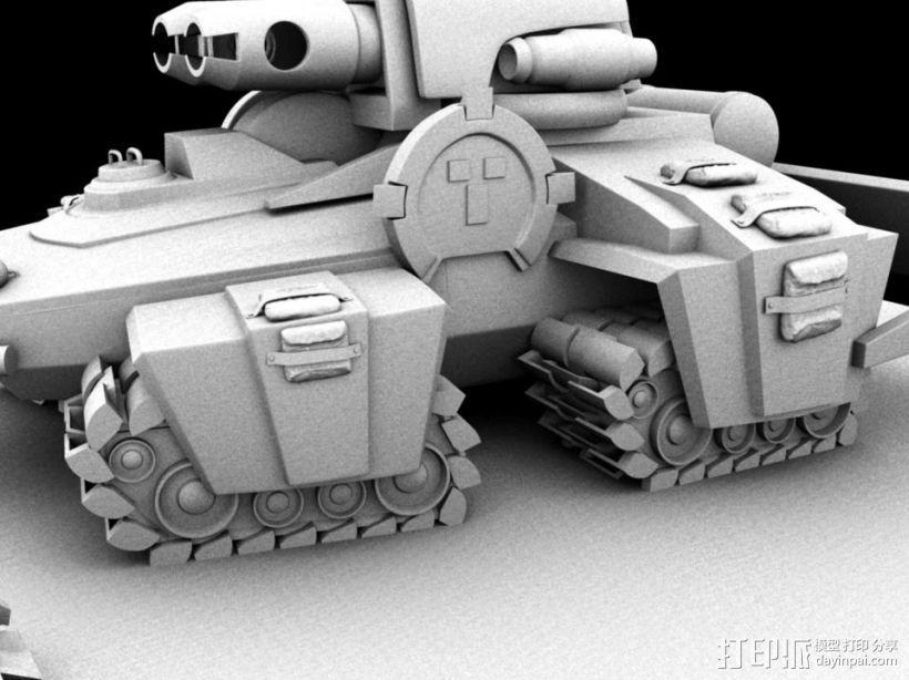 机械战场 3D打印模型渲染图