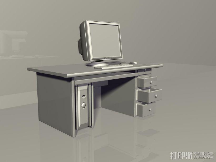 台式电脑 3D打印模型渲染图
