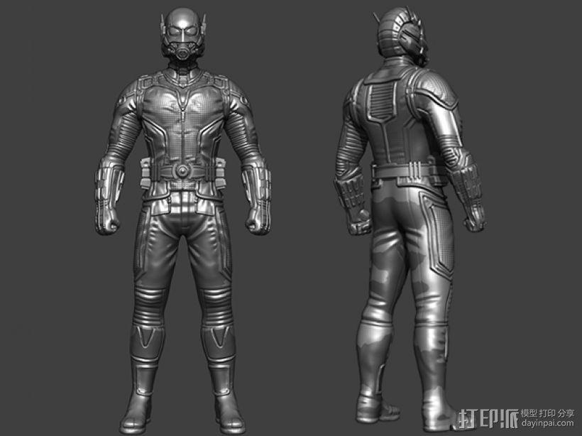 复仇者联盟——蚁人(Ant-Man) 3D打印模型渲染图