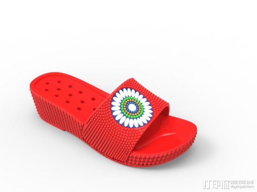 拖鞋效果图 3D打印模型渲染图
