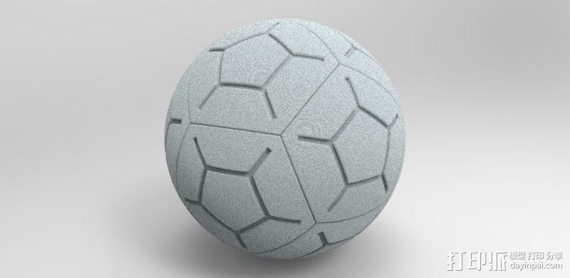 NIKE 12P 高频球 3D打印模型渲染图
