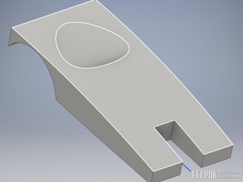 汽车外壳 3D打印模型渲染图