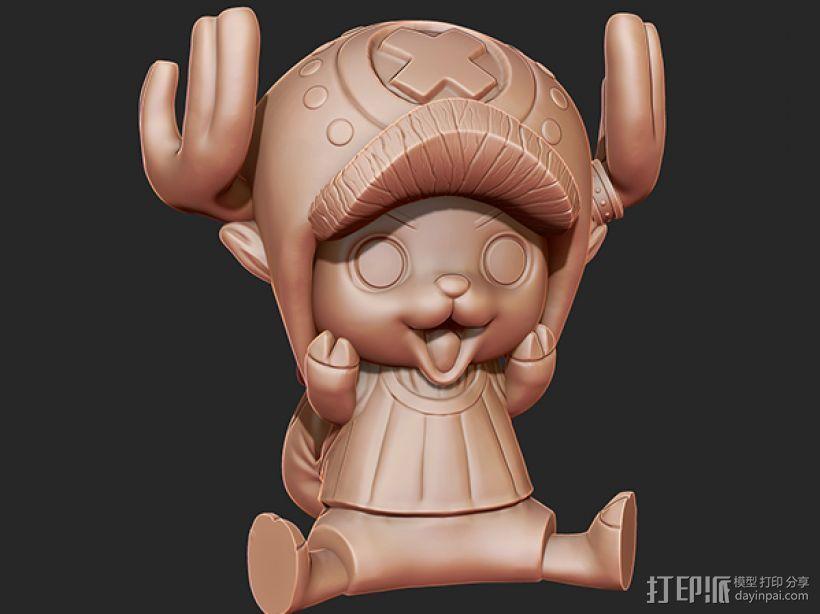 《海贼王》——托尼·托尼·乔巴 3D打印模型渲染图