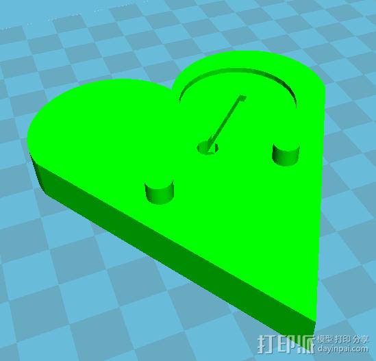 LED心形灯 3D打印模型渲染图