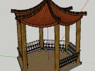 中式景观亭