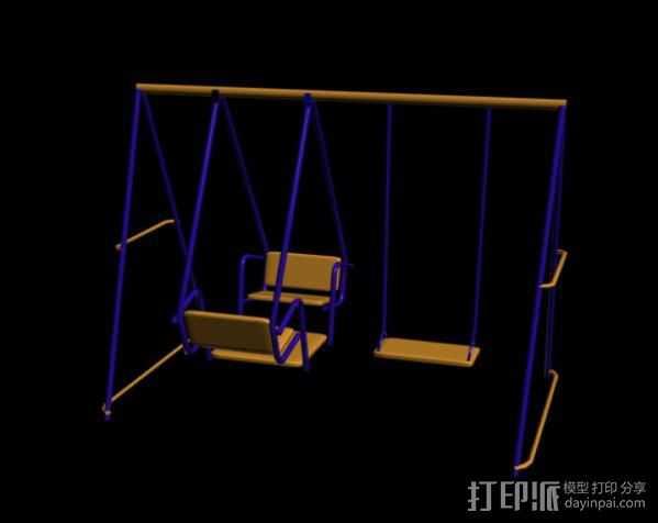 健身器 3D打印模型渲染图