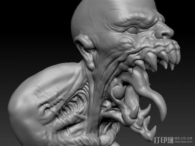 大嘴 3D打印模型渲染图