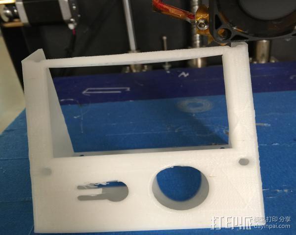 中文显示屏外壳 3D打印模型渲染图