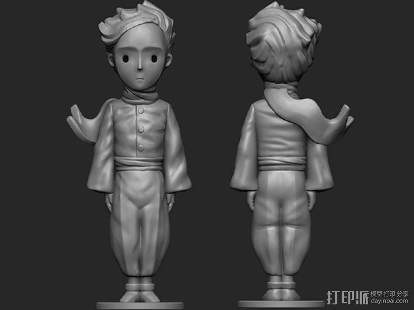 《小王子》 3D打印模型渲染图