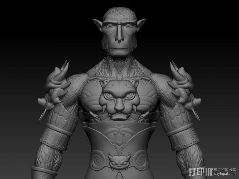 大圣孙悟空 3D打印模型渲染图